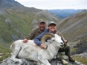 Alaskan Dall Sheep Hunters with Ram