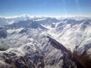 Pamir Mountains Tajikistan from plane window
